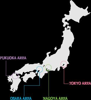 東京・大阪・名古屋に設置された姉妹校。